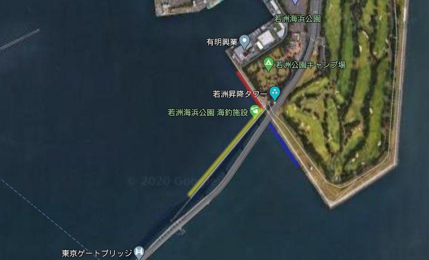 若洲海浜公園-釣り場の全体像