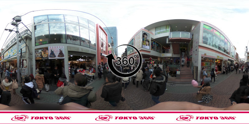 竹下通り-360度写真03