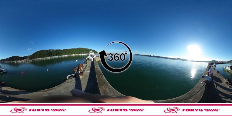 富浦新港(東堤防)-360度写真