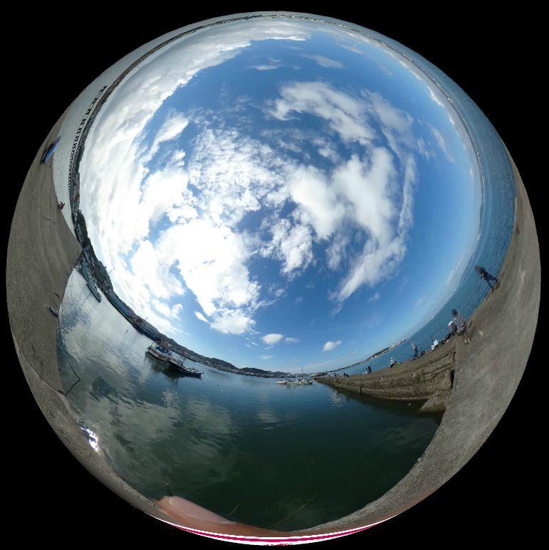 築港堤防-360度写真
