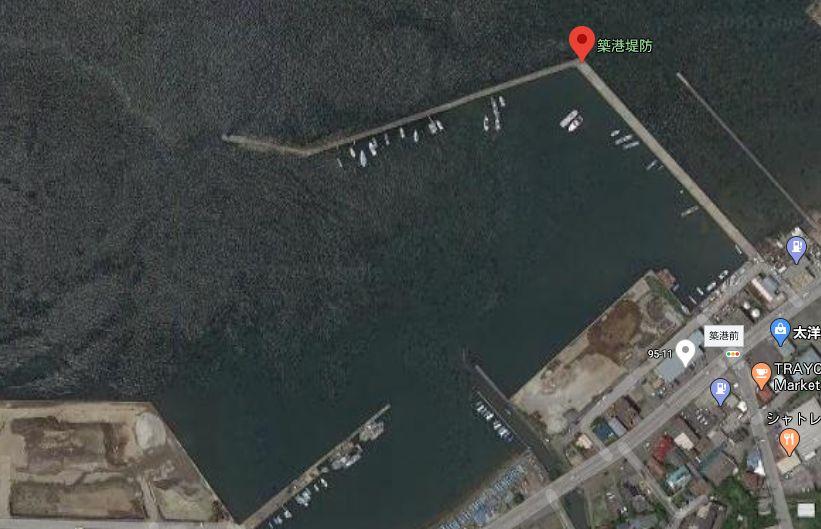 築港堤防の全体像