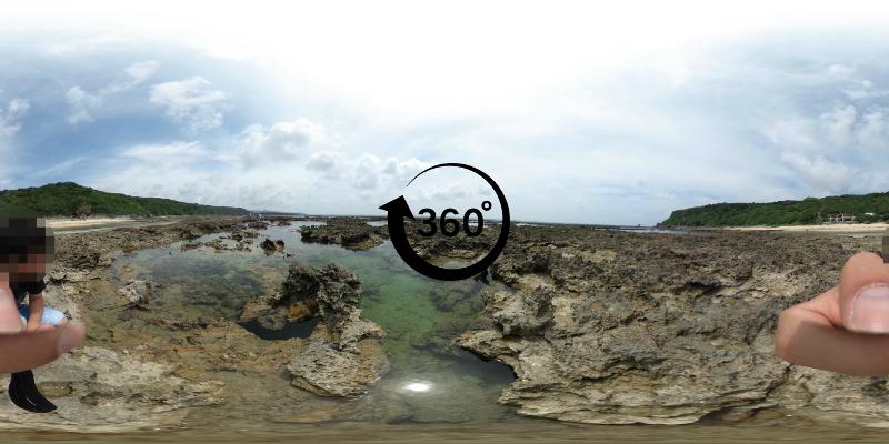 玻名城ビーチ360度写真-CLICKでSTART
