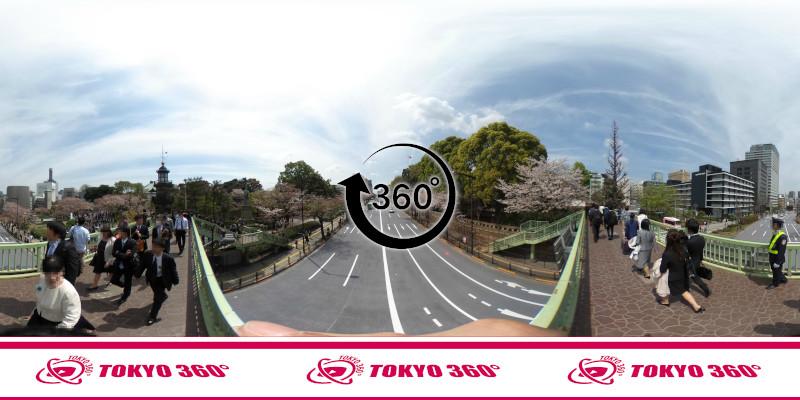 千鳥ヶ淵の桜-360度写真-07
