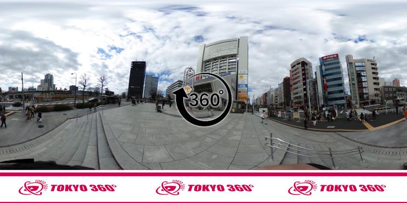 中野通りの桜並木-360度写真-19