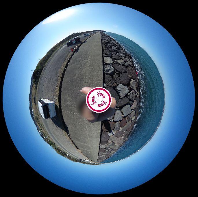 館山-沖ノ島護岸-360度写真