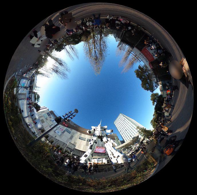 お台場のガンダム-360度写真