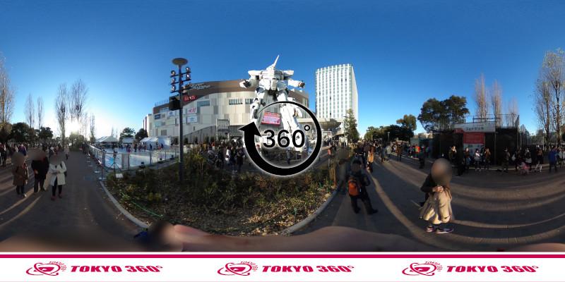 お台場のガンダム-360度写真-03