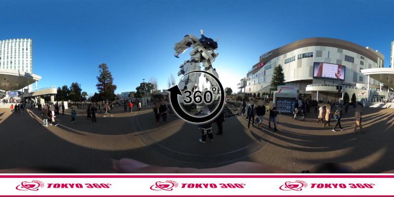 お台場のガンダム-360度写真-08