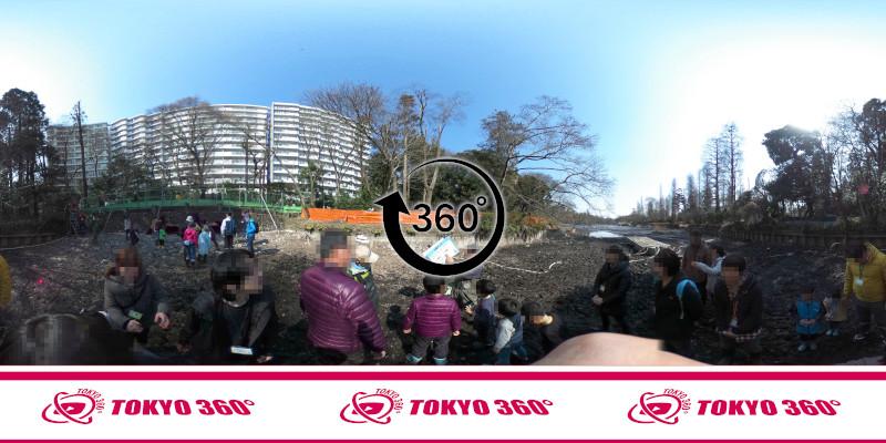 井の頭池かいぼり-360度写真-04