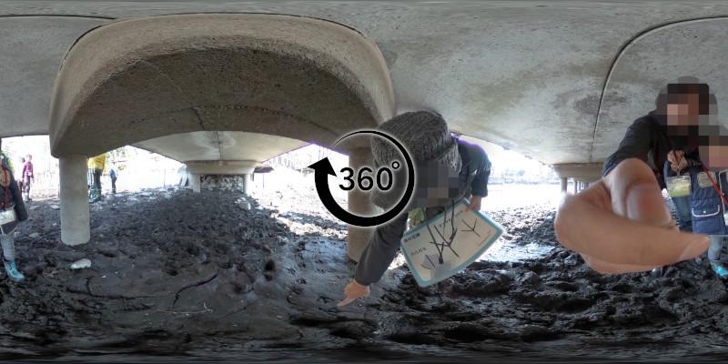 井の頭池かいぼり-360度写真-08