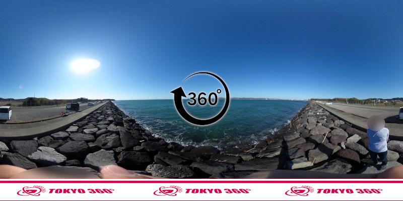 沖ノ島護岸-360度写真-05