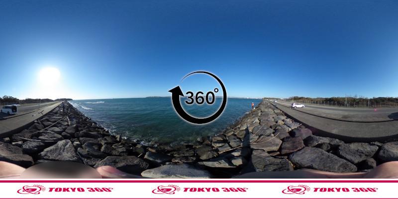 沖ノ島護岸-360度写真