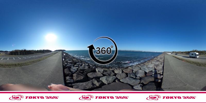 沖ノ島護岸-360度写真-07