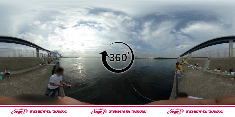 若洲海浜公園-釣り-360度写真-03