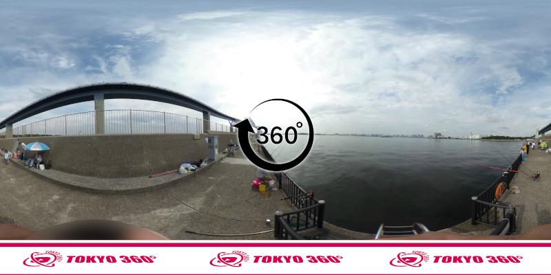 若洲海浜公園-釣り-360度写真-05