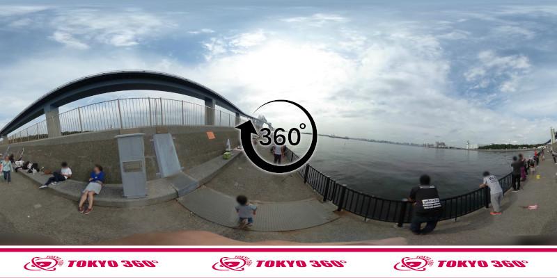 若洲海浜公園-釣り-360度写真-06