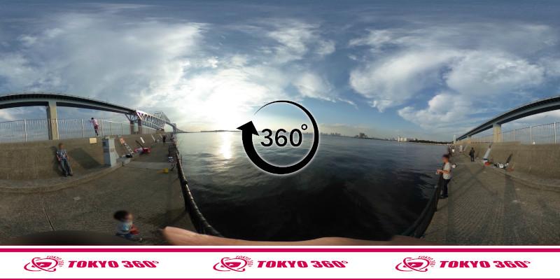 若洲海浜公園-釣り-360度写真-07