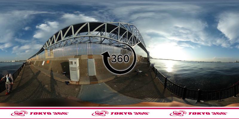 若洲海浜公園-釣り-360度写真-09
