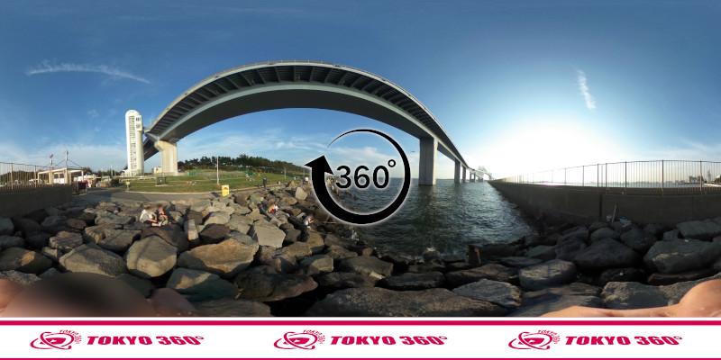 若洲海浜公園-釣り-360度写真-10