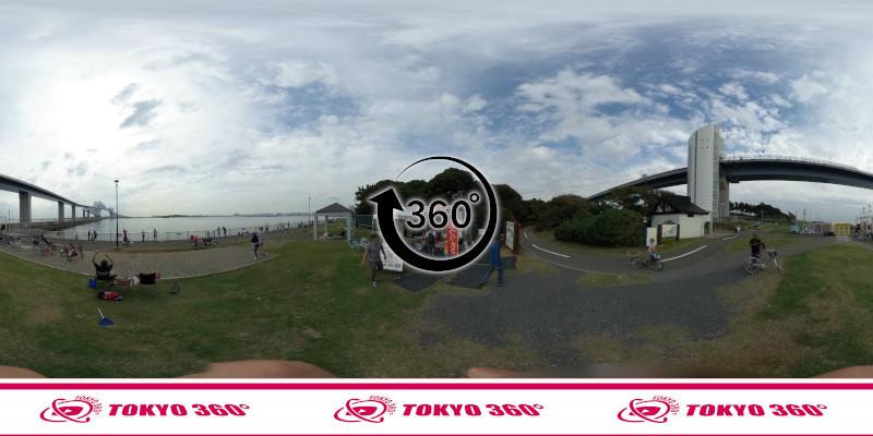 若洲海浜公園-釣り-360度写真-11