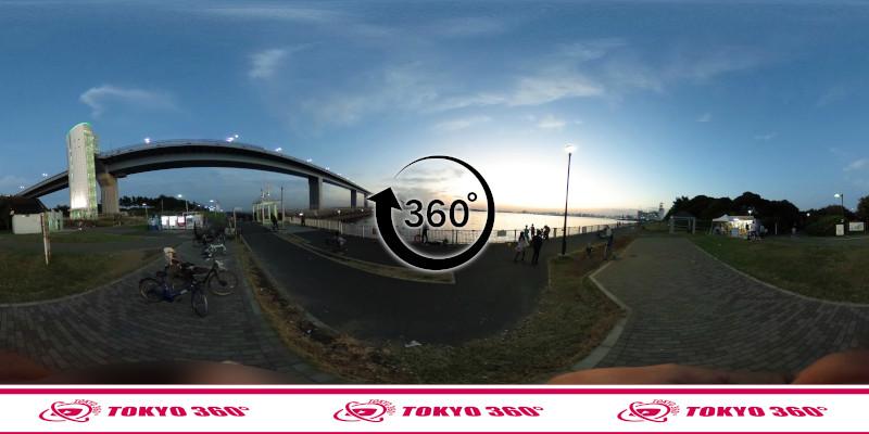 若洲海浜公園-釣り-360度写真-16