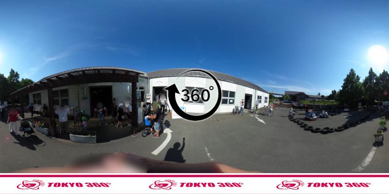 若洲海浜公園サイクリングロード-360度写真-03