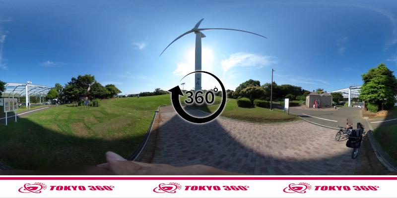 若洲海浜公園サイクリングロード-360度写真-05