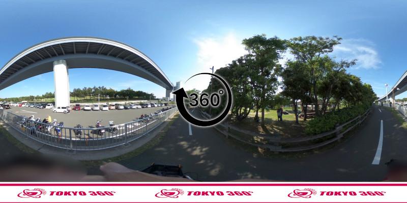 若洲海浜公園サイクリングロード-360度写真-06