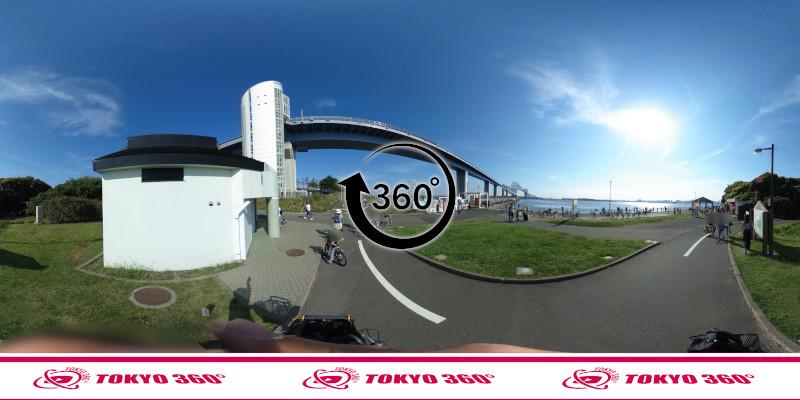 若洲海浜公園サイクリングロード-360度写真-07