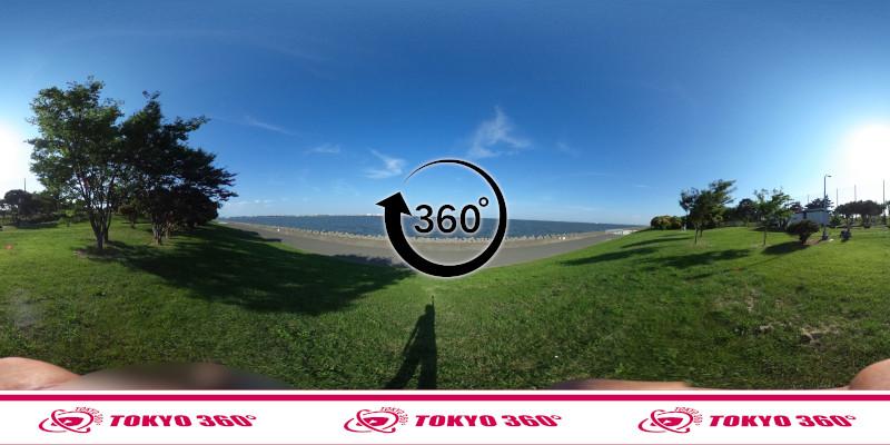 若洲海浜公園サイクリングロード-360度写真-17
