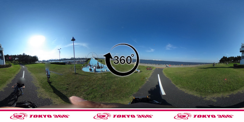 若洲海浜公園サイクリングロード-360度写真-20