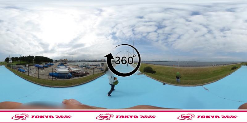 若洲海浜公園サイクリングロード-360度写真-21