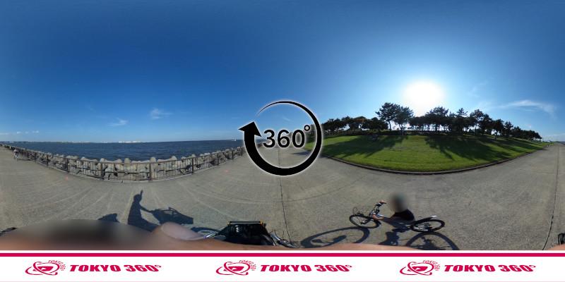 若洲海浜公園サイクリングロード-360度写真-24