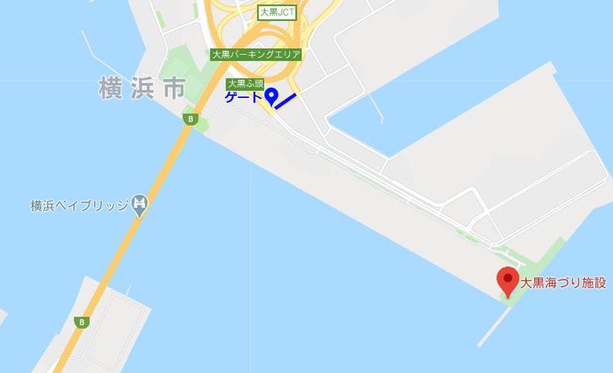 大黒海づり施設-周辺地図