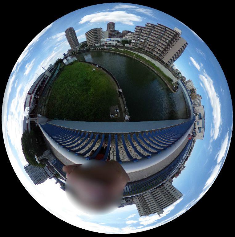 横十間川-ハゼ釣り-360度写真