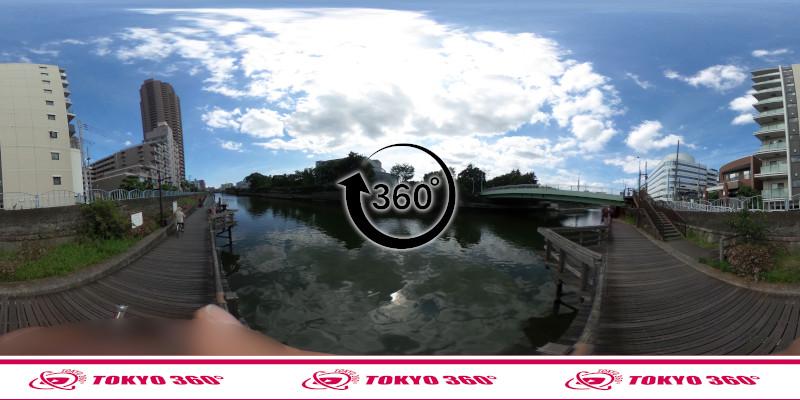 横十間川ハゼ釣り-360度写真-03