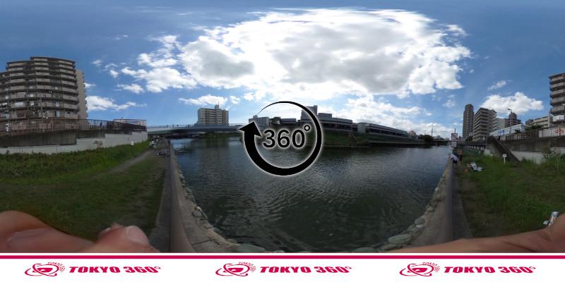 横十間川ハゼ釣り-360度写真