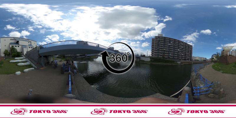 横十間川ハゼ釣り-360度写真-07