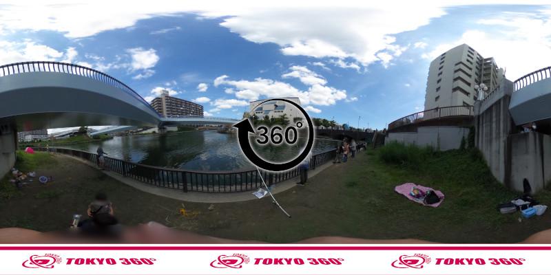 横十間川ハゼ釣り-360度写真-08