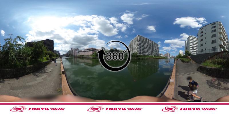 横十間川ハゼ釣り-360度写真-09