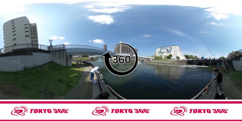 横十間川ハゼ釣り-360度写真-10
