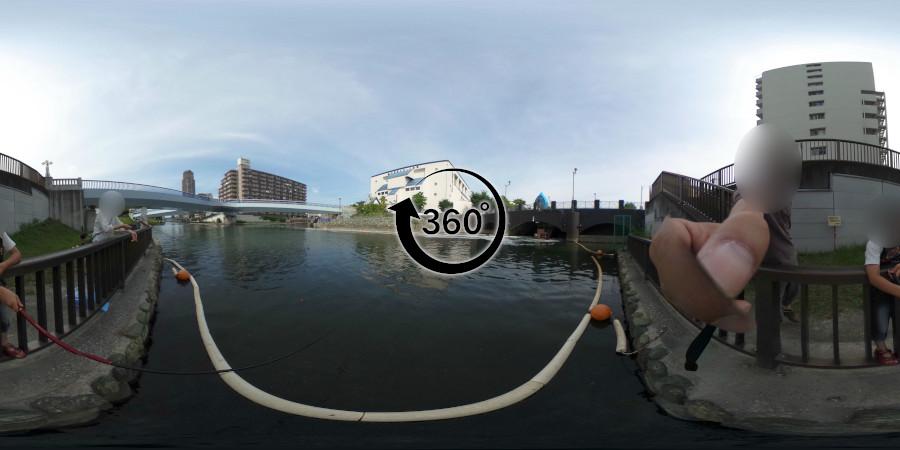 横十間川ハゼ釣り-360度写真-11