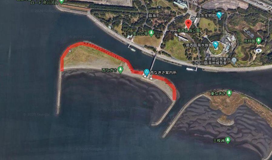 葛西臨海公園-釣り場-全体像