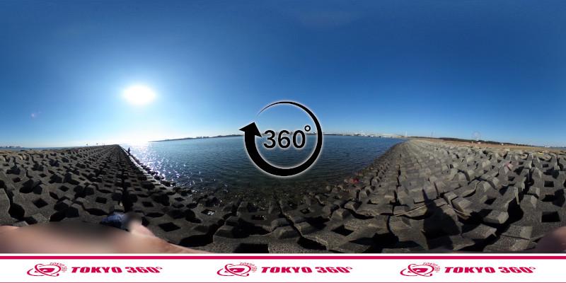 葛西臨海公園-釣り-360度写真