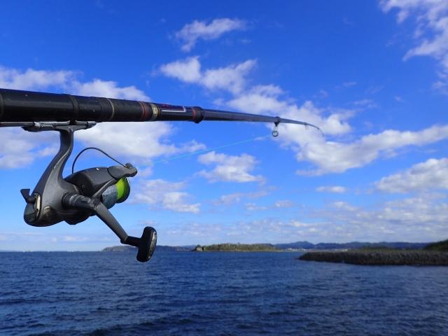釣り竿と海