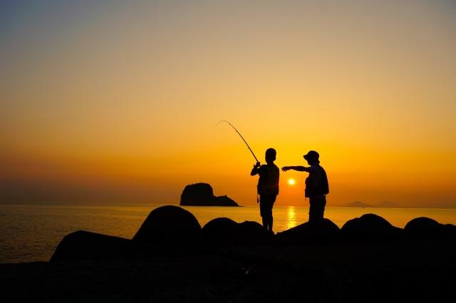 夕日の見える釣り場
