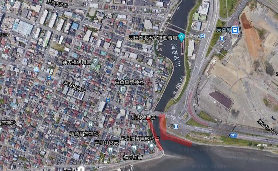 海老取川-釣りポイント全体像