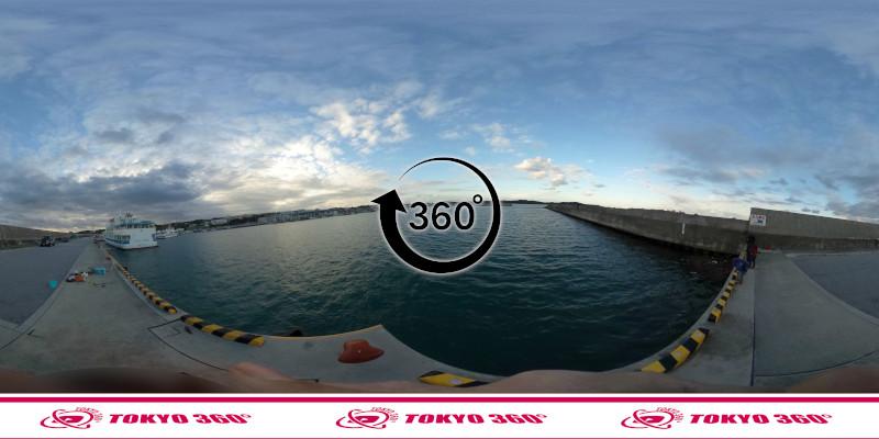 平敷屋漁港-360度写真
