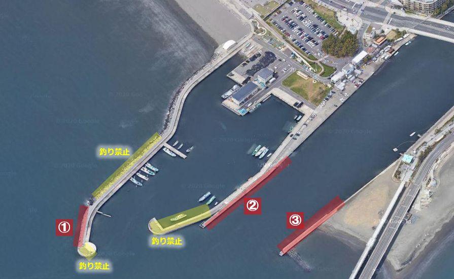 片瀬漁港-釣り場の全体像