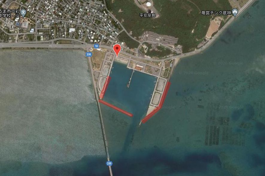 平安座漁港-全体像